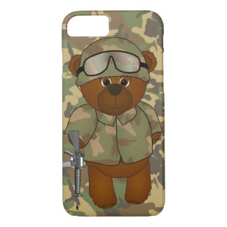 Cute Armed Forces Teddy Bear Military Mascot iPhone 8/7 Case