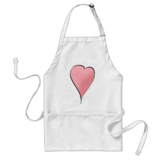Cute as a Bug · Pink Heart Standard Apron