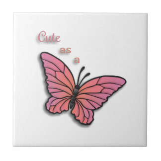 Cute As A Butterfly Ceramic Tile