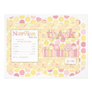 Cute as a Button Girl Puff Box Full Color Flyer