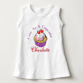 Cute As A Cup Cake Personalized Dress