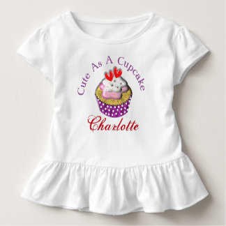 Cute As A Cup Cake Personalized Toddler T-Shirt