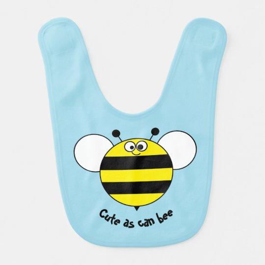 Cute as can bee baby bib