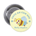 Cute as Can Bee, Baby Boy 6 Cm Round Badge