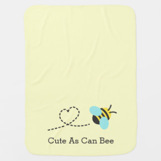 Cute as can bee, for babies baby blanket