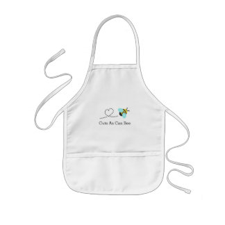 Cute as can bee, for toddlers kids apron