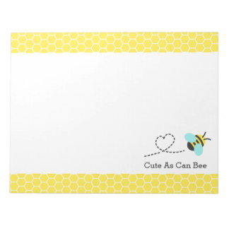 Cute as can bee, Honeycomb Pattern Notepad