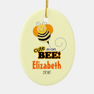CUTE AS CAN BEE Personalized Christmas Ornament