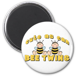 Cute As Can BEE Twins 6 Cm Round Magnet