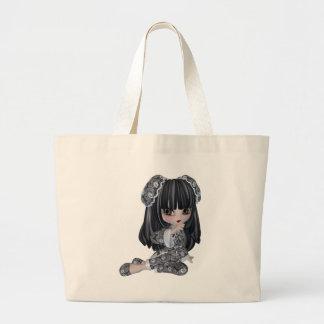 Cute Asian Girl Large Tote Bag