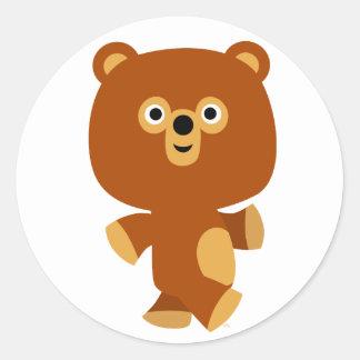 Cute Assertive Cartoon Bear Sticker