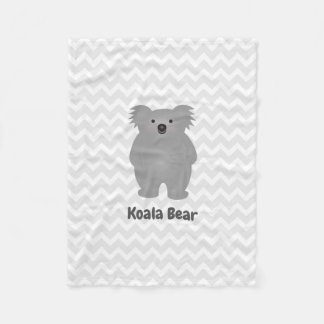 Cute Australia Baby Koala Bear Add Your Name Fleece Blanket