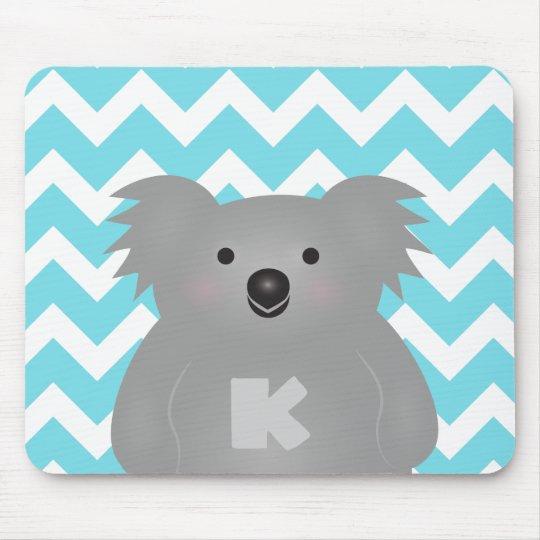 Cute Australia Baby Koala Bear Monogram Mouse Mat