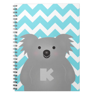 Cute Australia Baby Koala Bear Monogram Notebooks