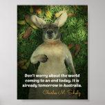 Cute Australia Kangaroo Poster
