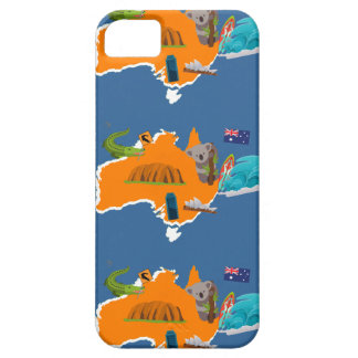 Cute Australia Map iPhone Case