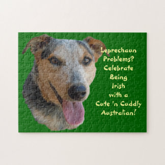Cute Australian Cattle Dog is Irish at Heart Puzzles