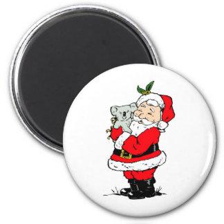 Cute Australian Christmas Santa with koala Refrigerator Magnet