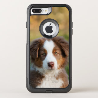 Cute Australian Shepherd Dog Puppy Pet Photo - on OtterBox Commuter iPhone 8 Plus/7 Plus Case