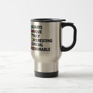 Cute Autism Awareness Acrostic Travel Mug