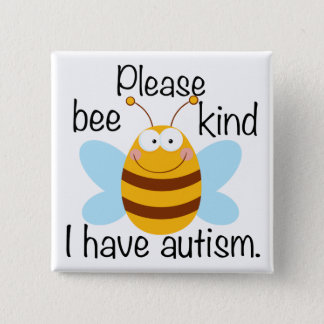 Cute Autism Pun 15 Cm Square Badge