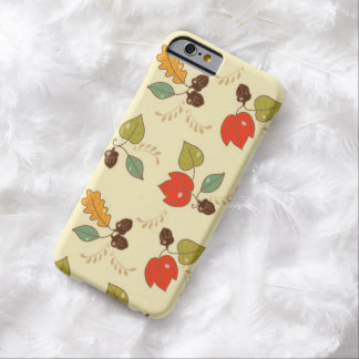 Cute Autumn Floral Theme Barely There iPhone 6 Case