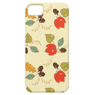 Cute Autumn Floral Theme iPhone 5 Cover