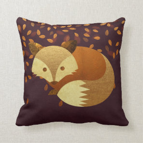 Cute Autumn Fox Cushion