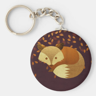 Cute Autumn Fox Key Ring