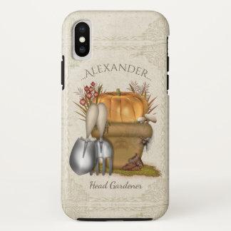Cute Autumn Gardening iPhone X Case