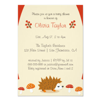 Cute Autumn Life - Baby Shower Invitation