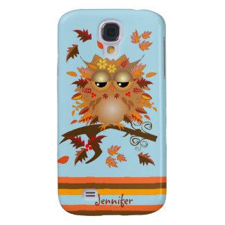 Cute Autumn owl and custom Name Case