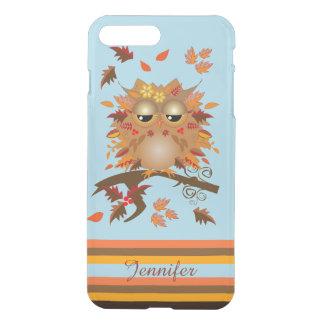 Cute Autumn owl and custom Name iPhone 8 Plus/7 Plus Case