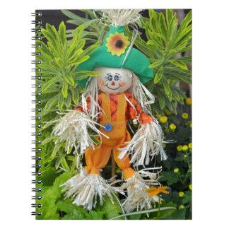Cute autumn scarecrow decoration notebook