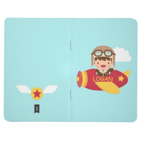 Cute Aviator Boy Aeroplane Adventure For Kids Journal