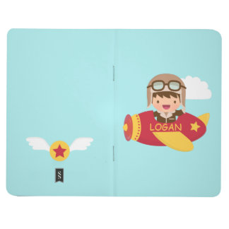 Cute Aviator Boy Airplane Adventure For Kids Journal
