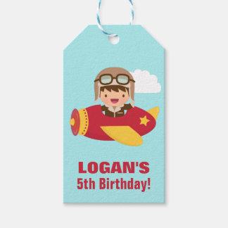 Cute Aviator Boy Airplane Birthday Party