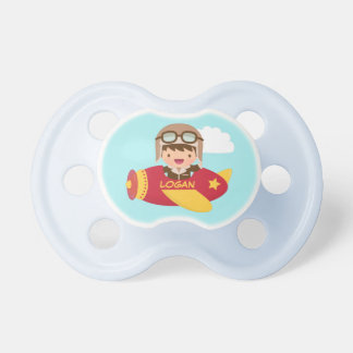 Cute Aviator Boy Airplane For Baby Boys Dummy