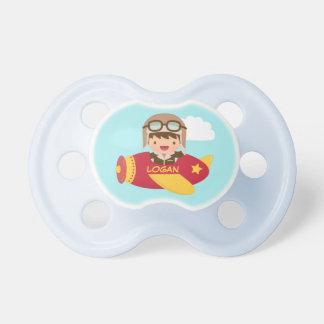 Cute Aviator Boy Airplane For Baby Boys Dummy
