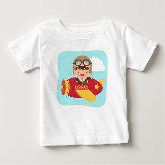 Cute Aviator Boy Airplane For Baby Boys Shirts