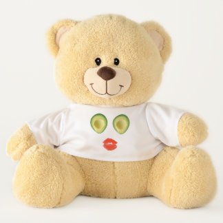 Cute Avocado Visage 4Trixie Teddy Bear