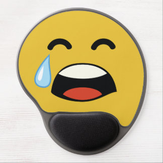 Cute aww don't cry emoji gel mouse pad