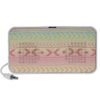Cute Aztec Influenced Pattern in Pastel Colors iPod Speaker