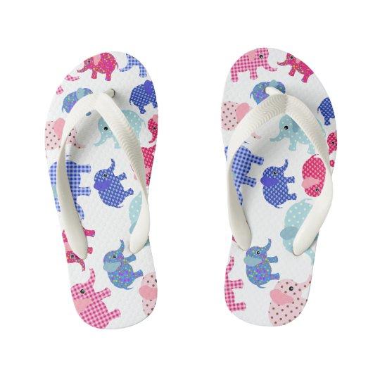 Cute babies elephants ,PLIP PLOP Kid's Flip Flops