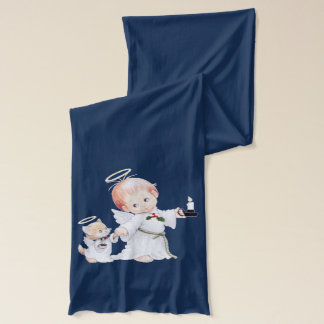 Cute Baby Angel And Cat Scarf