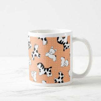 Cute Baby Animals in Peach Mugs