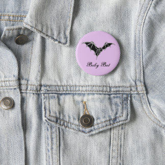 Cute Baby Bat Goth Kawaii Design 6 Cm Round Badge