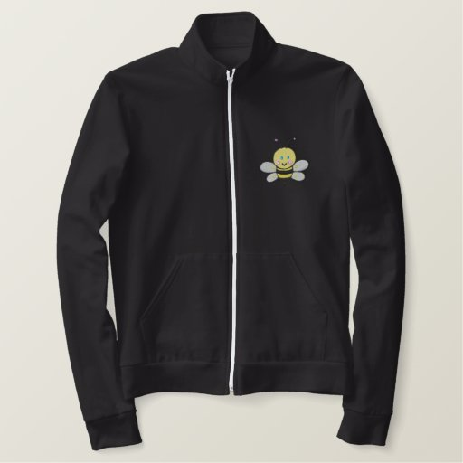 cute baby bee BEE-otch Embroidered Jacket