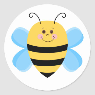 Cute Baby Bee Classic Round Sticker