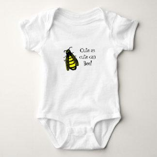 Cute Baby Bee Honeybee with Fun Text Baby Bodysuit